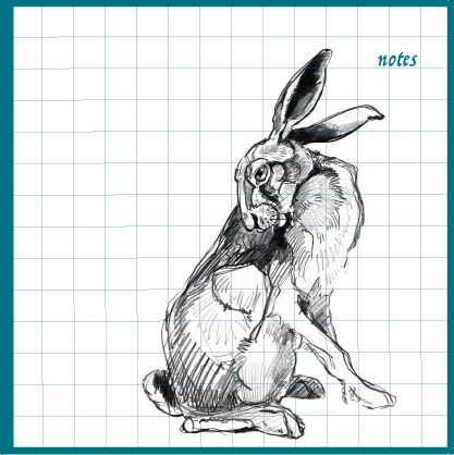 Upright Hare Notebook